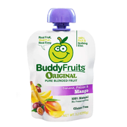 Buddy Fruits Originals Banana Passion and Mango Fruit Blend, 3.2 Ounce -- 18 per case.
