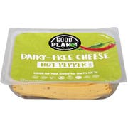 Good Planet Foods Plant Based Hot Pepper Cheese Slices, 7 Ounce -- 12 per case