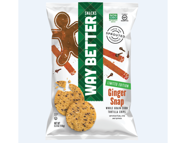 Way Better Oh Snap Ginger Holiday Chips, 5.5 Ounce -- 12 per case