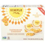 Simple Mills Farmhouse Cheddar Almond Flour Cracker, 4.9 Ounce -- 6 per case