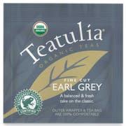 Teatulia Organic Wrapped Standard Earl Grey Tea -- 50 per case