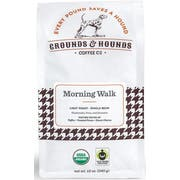 Grounds and Hounds Coffee Morning Walk Breakfast Blend Whole Bean Coffee, 12 Ounce -- 8 per case