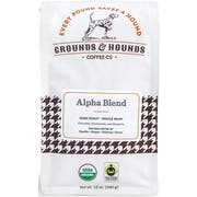 Grounds and Hounds Coffee Alpha Blend Dark Roast Whole Bean Coffee, 12 Ounce -- 8 per case