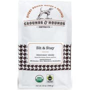 Grounds and Hounds Coffee Sit and Stay Medium Roast Blend Whole Bean Coffee, 12 Ounce -- 8 per case