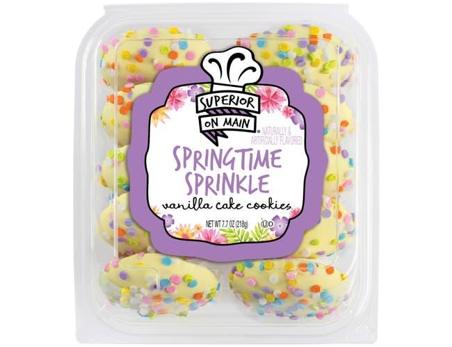 Superior On Main Springtime Sprinkle Vanilla Cake Cookie, 7.7 Ounce -- 12 per case.