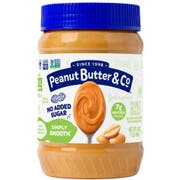 Peanut Butter and Co Simply Smooth All Natural Peanut Butter Spread, 16 Ounce Jar -- 6 per case.
