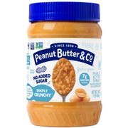 Peanut Butter and Co Simply Crunchy All Natural Peanut Butter Spread, 16 Ounce Jar -- 6 per case.