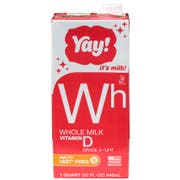 Yay! Extended Shelf Life Whole Milk, 32 Ounce Aseptic -- 12 per case