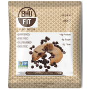 BHU Foods Chocolate Chip Vegan Protein Cookie, 1.65 Ounce -- 10 per case
