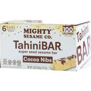 Mighty Sesame TahiniBar Cocoa Nibs Super Seed Sesame Bar, 3.8 Ounce -- 8 per case