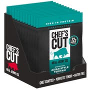 Chefs Cut Asian Teriyaki Smoked Beef Jerky, 1.25 Ounce -- 12 per case.
