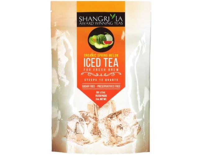 Shangri La Organic Spring Melon Iced Tea, 6 count per pack -- 12 per case.