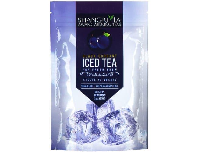 Shangri La Black Currant Iced Tea, 6 count per pack -- 12 per case.