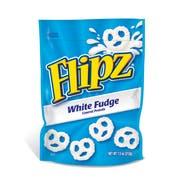 Flipz White Fudge Covered Pretzels, 7.5 Ounce Stand Up Pouch -- 8 per case.