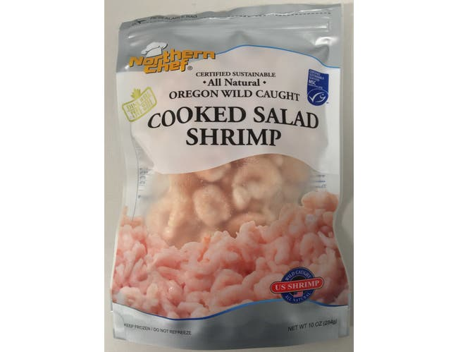 Northern Chef Oregon Wild Caught Cooked Salad Shrimp, 10 Ounce -- 12 per case