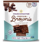 Crunchmaster Milk Chocolate Protein Brownie Thins, 3.54 Ounce -- 12 per case.