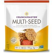 Crunchmaster Roasted Garlic Multi Seed Cracker -- 12 per case.