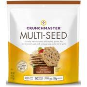 Crunchmaster Artisan Cheesy Garlic Bread Multi Seed Cracker, 4 Ounce -- 12 per case.