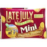 Late July Organic Mini Peanut Butter Cracker, 1.125 Ounce - 8 count per pack -- 4 packs per case
