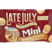 Late July Organic Mini Cheddar Cheese Cracker, 1.125 Ounce Bag -- 32 per case