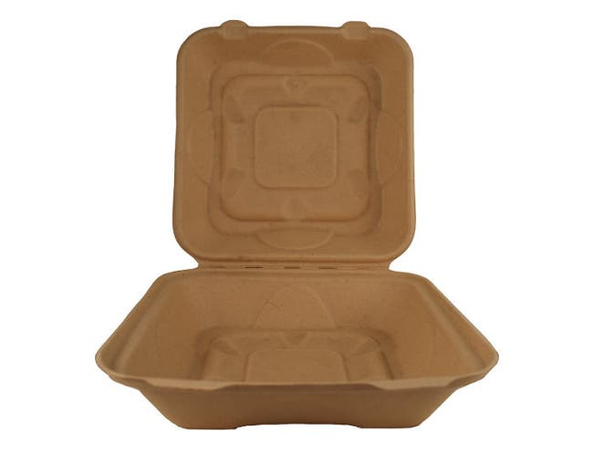 World Centric Single Comportment Unbleached Fiber Take Out Container, 300 Each -- 300 per case