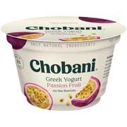 Chobani Low Fat Passion Fruit Greek Yogurt, 5.3 Ounce -- 12 per case.