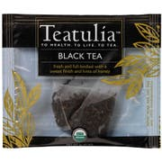 Teatulia Organic Wrapped Premium Pyramid Black Tea -- 50 per case
