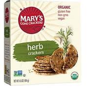 Mars Gone Crackers Organic Herb Flavor Cracker, 6.5 Ounce -- 6 per case.