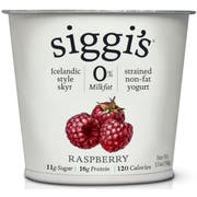 Siggis Raspberry Skyr Icelandic Strained Non Fat Yogurt, 5.3 Ounce -- 12 per case