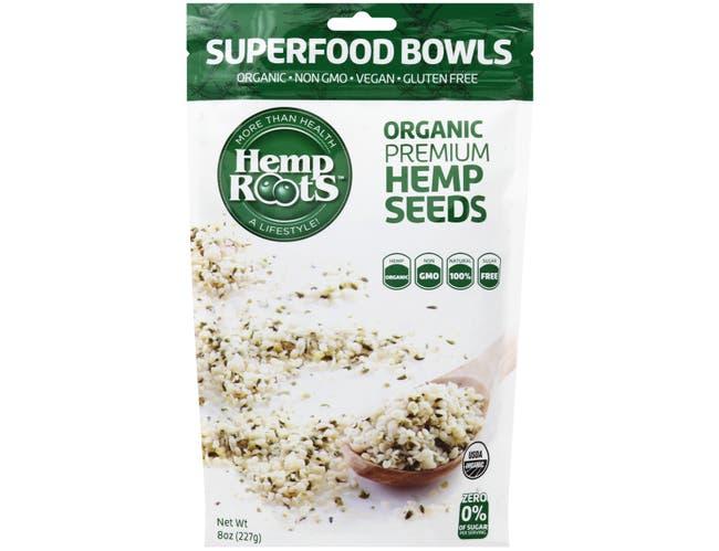 Hemp Roots Organic Premium Hemp Seeds, 8 Ounce -- 6 per case.