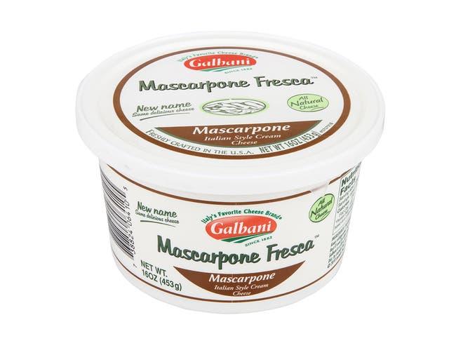 Galbani Mascarpone Fresca Italian Style Cream Cheese, 16 Ounce -- 6 per case.