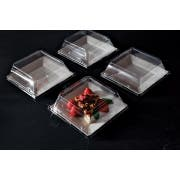 Squares 6. 5 inch Dessert Plate Pet Lid Only -- 120 per case.
