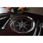 Yoshi Ware Emi Clear Caterers Collection Dinner Plate, 9 inch - 20 per pack -- 12 packs per case.
