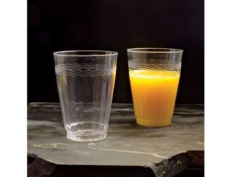 Yoshi Ware Emi Resposable Clear Extra Heavy Weight Plastic Tumbler, 12 Ounce - 20 per pack -- 12 packs per case.