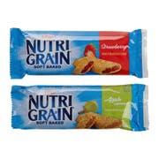 Kellogg Nutri Grain 2 Flavors Cereal Bar, 1.3 Ounce -- 1 each.