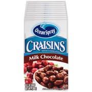 Ocean Spray Craisins Milk Chocolate Covered Dried Cranberries, 3 Ounce -- 40 per case.