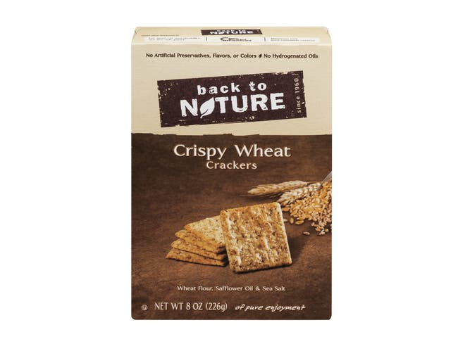 Back to Nature Crispy Wheat Cracker, 8 Ounce -- 6 per case.
