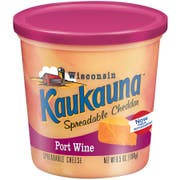 Kaukauna Port Wine Cheese Spread, 6.5 Ounce Cup -- 12 per case.