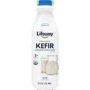 Lifeway Organic Probiotic Low Fat Plain Kefir, 32 Ounce -- 6 per case.