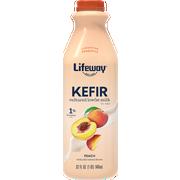 Lifeway Probiotic Low Fat Peach Kefir, 32 Ounce -- 6 per case.