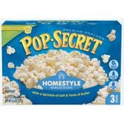 Pop Secret Homestyle Natural Butter Popcorn, 9.6 Ounce -- 6 per case.