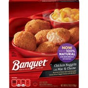 Banquet Basic Chicken Nuggets with Mac and Cheese Meal, 6.2 Ounce -- 12 per case.