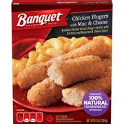 Banquet Basic Chicken Finger with Mac and Cheese Meal, 6.5 Ounce -- 12 per case.
