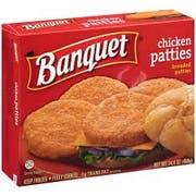 Conagra Banquet Original Boneless Chicken Patty, 14.4 Ounce -- 12 per case.