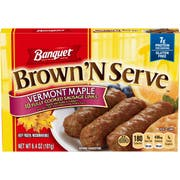 Banquet Brown and Serve Maple Sausage Link, 6.4 Ounce -- 12 per case.