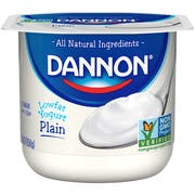 Dannon All Natural Original Plain Lowfat Yogurt, 6 Ounce -- 12 per case.