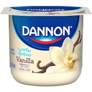 Dannon Natural Vanilla Flavored Low Fat Yogurt, 5.3 ounce -- 12 per case