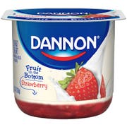 Dannon Fruit on the Bottom Strawberry Low Fat Yogurt, 5.3 ounce -- 12 per case