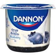 Dannon Fruit on the Bottom Blueberry Yogurt, 6 Ounce -- 12 per case.