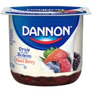 Dannon Fruit on the Bottom Mixed Berry Low Fat Yogurt, 5.3 ounce -- 12 per case